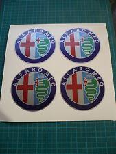 Alfa Romeo Silver Wheel Stickers (Four) 50mm