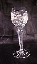 Vintage Cordial Crystal Stem Clear   Liquor Hand Cut Bohemian Etched Floral