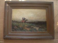 California Landscape Artist, Carl H. Jonnevold, Oil With Native Americans