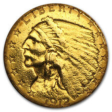 $2.50 Indian Gold Quarter Eagle - Random Year - Cleaned - SKU #23228