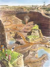 NO. 17 MESABI MINE & GOLF COURSE PRINT BY LOYAL H. CHAPMAN