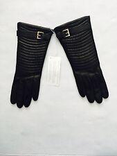 Portolano Women's 2AP11996 Cashmere Lined Leather Gloves  Size 7 Black
