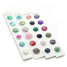 Card Display For Snap Button Jewelry 100 Pieces Fashion Accessory Supplies Cases