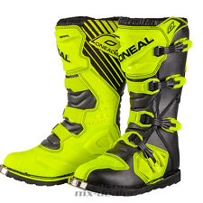 O'neal Rider Boot Giallo Fluo Stivale Motocross Enduro Quad economico ONeal 42