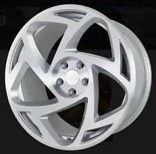18X9.5 Radi8 S5 5x100 +35 Silver Rims Fits Corolla Celica Wrx Brz