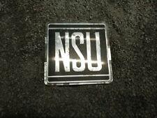 NSU Typenzeichen Emblem Schriftzug alt gebraucht