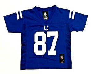 Indianapolis Colts Reggie Wayne #87 KIDS 4 - 7 Blue NFL Jersey
