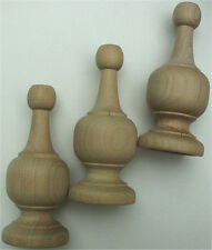 "10 PIECES LARGE WOOD FINIAL TURNING Size  4-3/8"" High bulk pack 10 PCS"