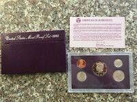 1992 US. Mint Proof Set with Box and COA, 5 coins total