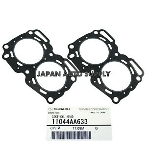 NEW OEM SUBARU Impreza Baja Legacy Forester MLS HEAD GASKET SET PAIR 2.5L SOHC