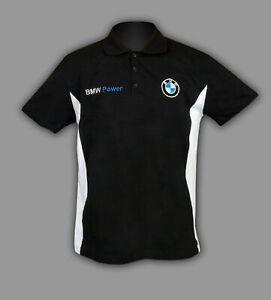 BMW POWER Polo T-shirt chemise Homme Broderie FABRIQUÉ EN EUROPE XS S M L - 6XL