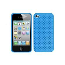 Blue Mesh Hard Snap On Back Cover Case for iPhone 4