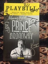 Prince Of Broadway Cast Signed Playbill