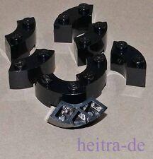 LEGO - 8 x Brunnenstein Viertelrundstein schwarz 2x2 / Macaroni / 85080 NEUWARE