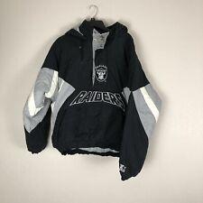 Raiders Starter Pro Line NFL Jacket Mens Size Large Puffer Vintage