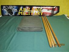 US ARMY INSECT MOSQUITO NET BAR MILITARY FIELD NETTING COT COVER NEW w/ 4 poles