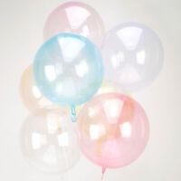"CLEARZ 18""-22"" Sphere Globe Shape BALLOONS 6 Colours Stretchy Deco Bubble"