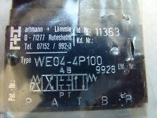 Hartmann Lämmle WE04-4P100 Hydraulik 4/3 Wegeventil unbenutzt ! Shipping free