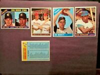 1966 TOPPS 5 BASEBALL CARDS NMMT-HI-END W/ ROOKIE STARS-CONVINGTON🔥FREE SHIP
