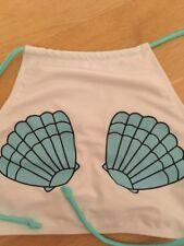 NEU Bikini Neckholder Muschel türkis weiß 40 42 Schleife Schnüren Verstellbar