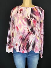 Jennifer Lopez Multicolor long Sleeve Shirt Women Casual Career Top Size XS