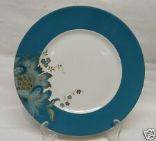 """222 FIFTH ELIZA TEAL ROUND 11"""" DINNER PLATES SET OF 4  NEW IN BOX FINE CHINA"""