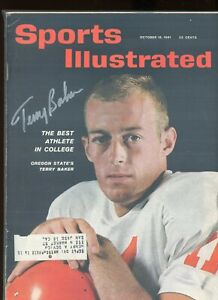 TERRY BAKER OREGON STATE BEAVERS SPORTS ILLUSTRATED signed autographed