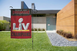 Tampa Bay Buccaneers Garden Flag 2 Sided Super Bowl LV Champions 12.5 x 18 New.