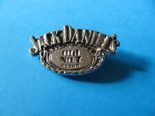 Jack Daniels Whiskey Oval metal pin badge. VGC. Unused. Whisky. (A)