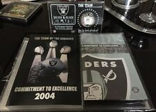 Oskland Raiders Lot Commitment To Excellence Book, Dvd & Limited Edition Coin