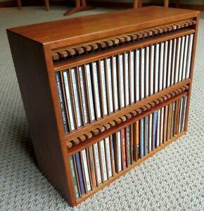 Custom Cherry CD Display Cabinet – 50 CDs – Near-pristine condition
