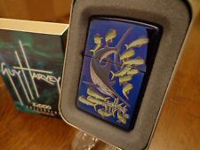 GUY HARVEY MARLIN WITH MAHI MAHI ZIPPO LIGHTER MINT IN BOX 2004