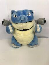 "Vintage 1999 Pokemon BLASTOISE  12"" Plush Nintendo blue stuffed Animal toy"