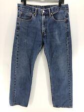 Levi's 505 Levi Mens Blue Jeans 33x30 Regular Fit Straight Leg Denim S3A