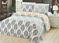 Bamboo Living Printed Bamboo 3 Pieces Duvet Cover Set, Wrinkle Free, Super Soft