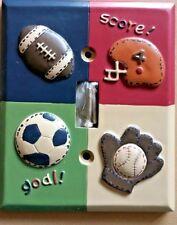 New 3D Sports Single Toggle Switchplate Soccer Baseball Football * Hardware inc