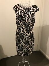 Portmans lace style dress black and white size 14
