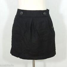 BANANA REPUBLIC Women's Black Wool Mini Skirt, Lined size 4