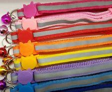 11 Reflective Cat Collar Safety Release Fluorescent Hi-Vis Anti Choke Kitten Set