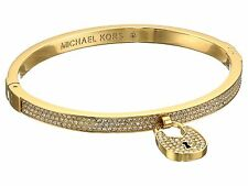 NEW AUTHENTIC MICHAEL KORS HINGE GOLD HERITAGE PAVE MK BRACELET MKJ5971710
