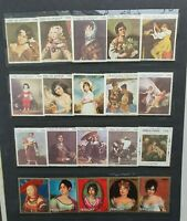 COLLECTION OF ART, PAINTINGS STAMPS DIFFERENT COUNTRIES IN BOOK - 500 pcs