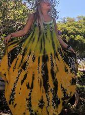 NWT TIE DYE 👗 DRESS Fits Plus SIZES ONE SIZE  SUNDRESS /BOHO/HIPPIE BEACH COVER