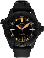 Zeno Men's Divers Black/Orange Dial Rubber Strap Automatic Watch 6603-BK-A15