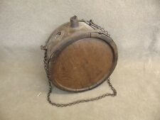 Antique Civil War Era Wooden Canteen