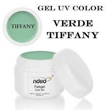 Gel UV Color VERDE TIFFANY 5 ml per la Ricostruzione Unghie Alta Qualità NDED