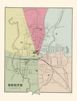 Keene New Hampshire - Hitchcock 1877 - 23.00 x 30.21