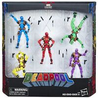 "Marvel Legends Universe Deadpool Rainbow Squad 5-Pack 3.75"" Action Figures"