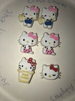 Glow In Dark Hello Kitty Lot Of 6 Crocs Shoe,Bracelet Charms,Jibbitz