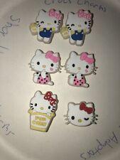 Glow In Dark Hello Kitty Lot Of 6 Crocs Shoe,Bracelet Charms,Jibbitz