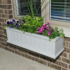 Mayne Outdoor Window Planter Box 11 x 48 in White Cape Cod Weather Resistant New